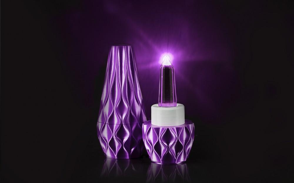 Crystal light stick - crown chakra